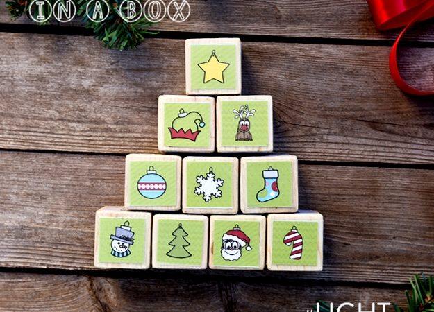 How to Make Christmas Tree Activity Blocks for #LIGHTtheWORLD