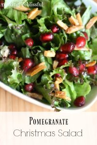 Pomegranate Christmas Salad with Pink Poppyseed Dressing