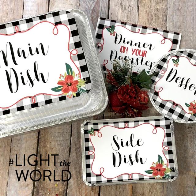 dinner on your doorstep printables