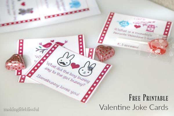 Printable Valentine Bingo and Valentine Joke Cards