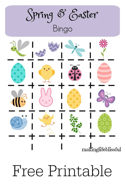 graphic about Spring Bingo Game Printable known as 10 Easter Things to do for All Ages Creating Daily life Blissful