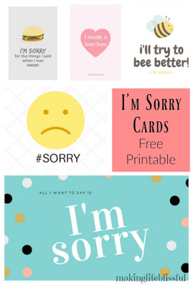 photo relating to Printable Sorry Cards identified as Absolutely free printable forgiveness playing cards Producing Existence Blissful