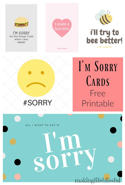 free printable apology cards