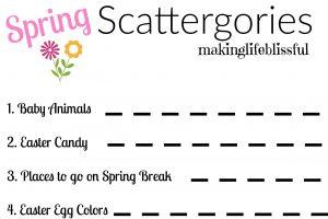 SPRING SCATTERGORIES 1