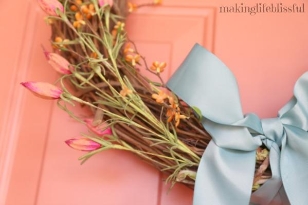 Easy No Glue Spring Wreaths