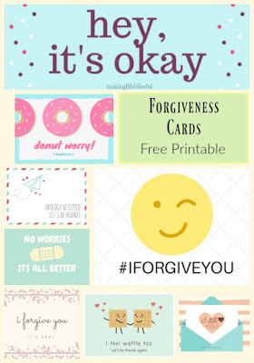 Click PREVIOUS Page For Our Free Printable Forgiveness Cards:  Free Printable Apology Cards