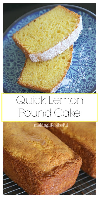 Quick Lemon Pound Cake