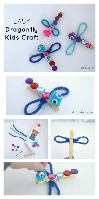 How to Make a Pipe Cleaner Dragonfly photo