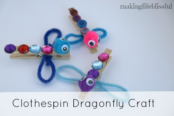 Clothespin Dragonfly Craft for Kids