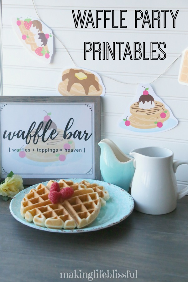 Waffle Bar Printables for Parties