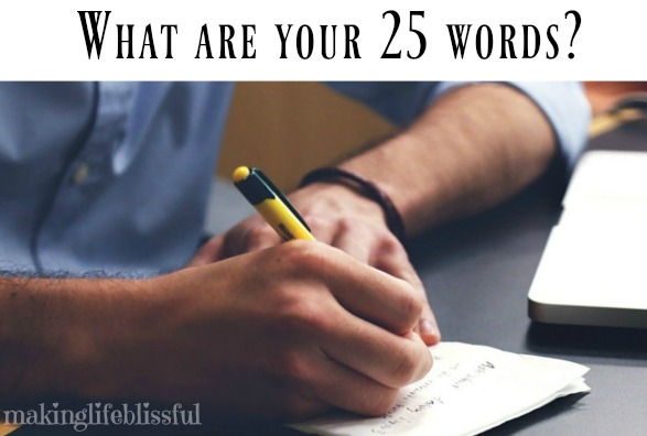 Your 25 Words