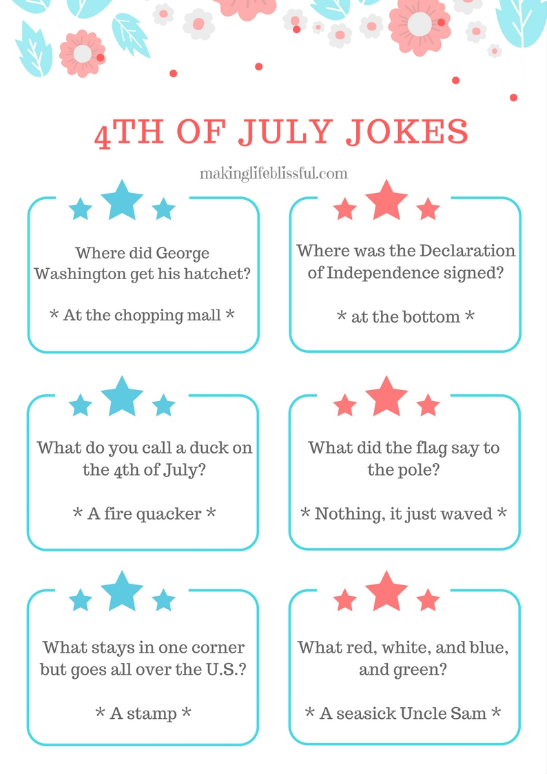 Free Printable Patriotic Jokes