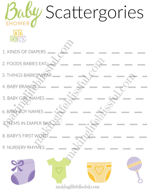 f7e3ad2d29d08 Free Baby Shower and Bridal Shower Games | Making Life Blissful