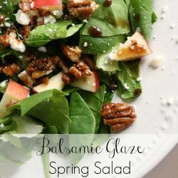 Balsamic Glaze Spring Salad