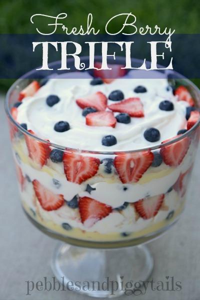 Fresh berry trifle dessert!