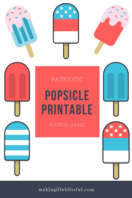 Cute Printable Popsicles for summer!