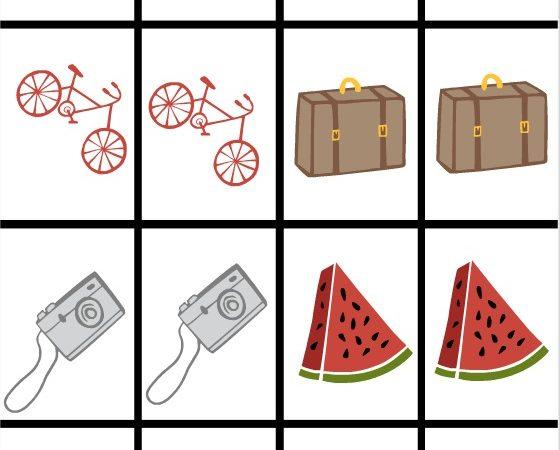 summer memory game printable 1