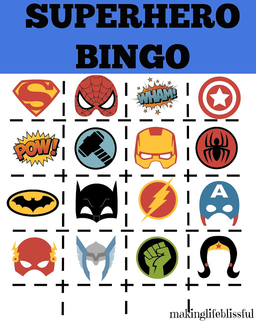 And This Superhero Bingo Game Is Now FREE When You Sign Up For My Email Newsletter Signing List Gives Access To Free Printables