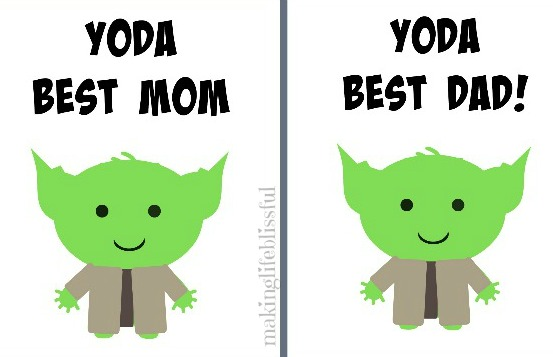 photo about Father's Day Printable Cards identified as Totally free YODA Suitable Father Star Wars Fathers Working day Printable Developing