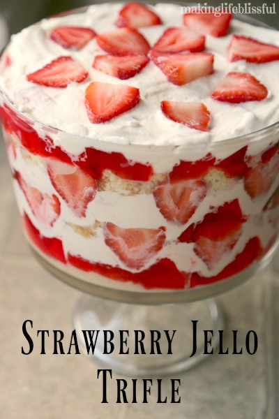 Strawberry Jell-O Trifle