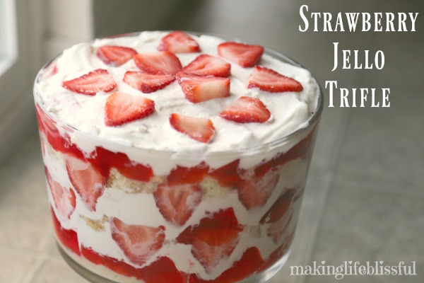 Strawberry Jello Trifle