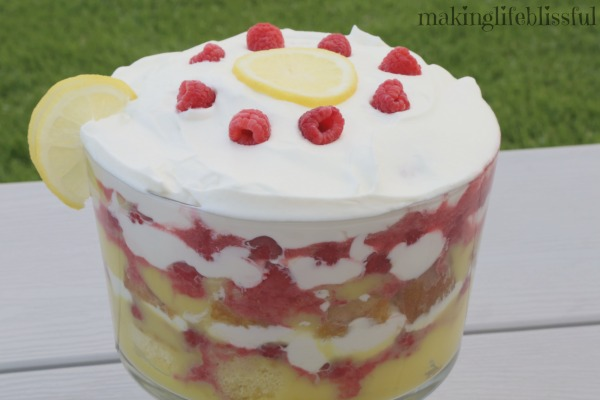 Lemon Raspberry Trifle