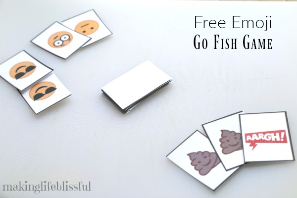 photo relating to Printable Go Fish Cards identified as emoji-transfer-fish-activity-printable