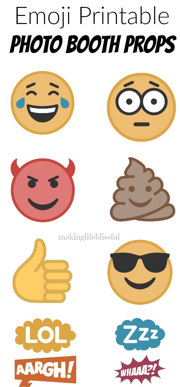 Free Emoji Party Printables Making Life Blissful