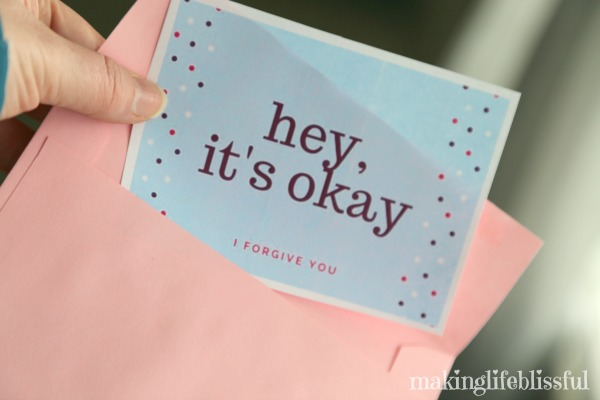 10 ways to show forgiveness plus printable cards