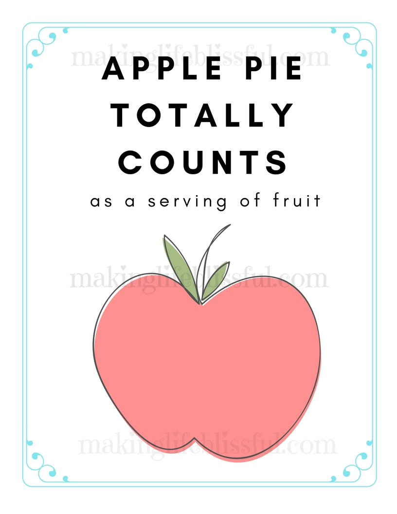 Apple pie counts as a serving of fruit printable