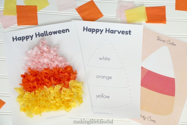 candy corn craft and candy corn printables