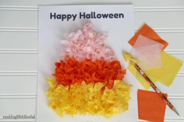candy corn halloween craft