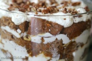 Caramel Carrot Cake Dessert Trifle