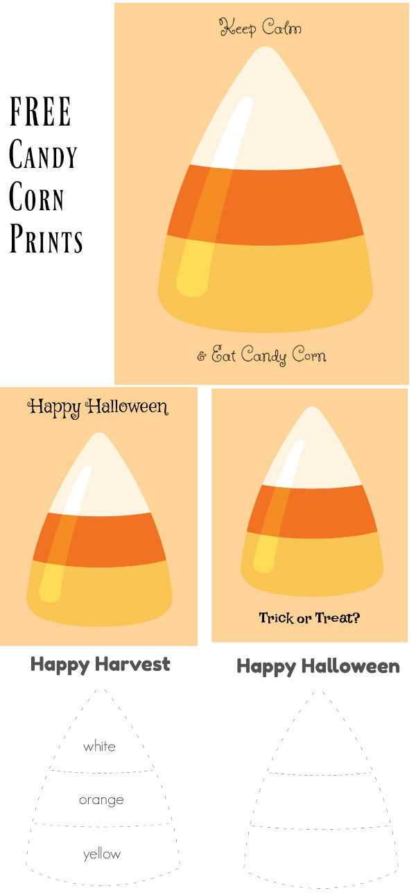 free candy corn printables