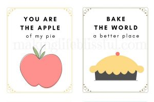 printable pie cards and quotes