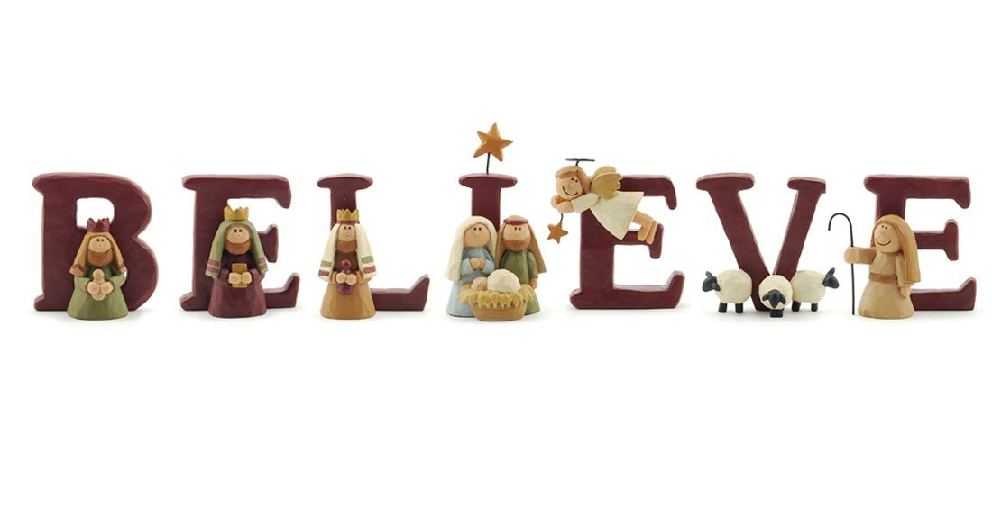 Believe Nativity Set of 7 Letters