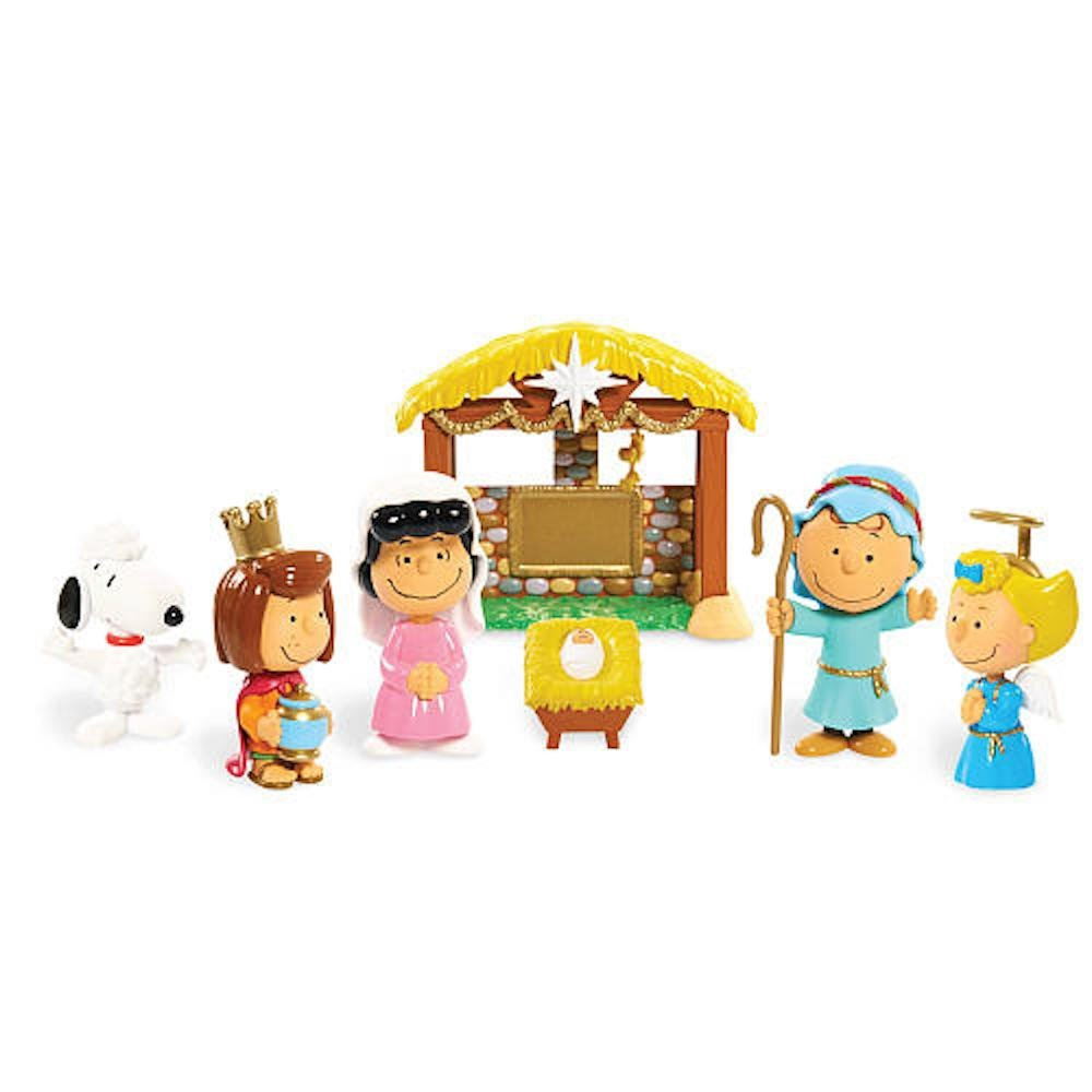 Peanuts Character Nativity Set