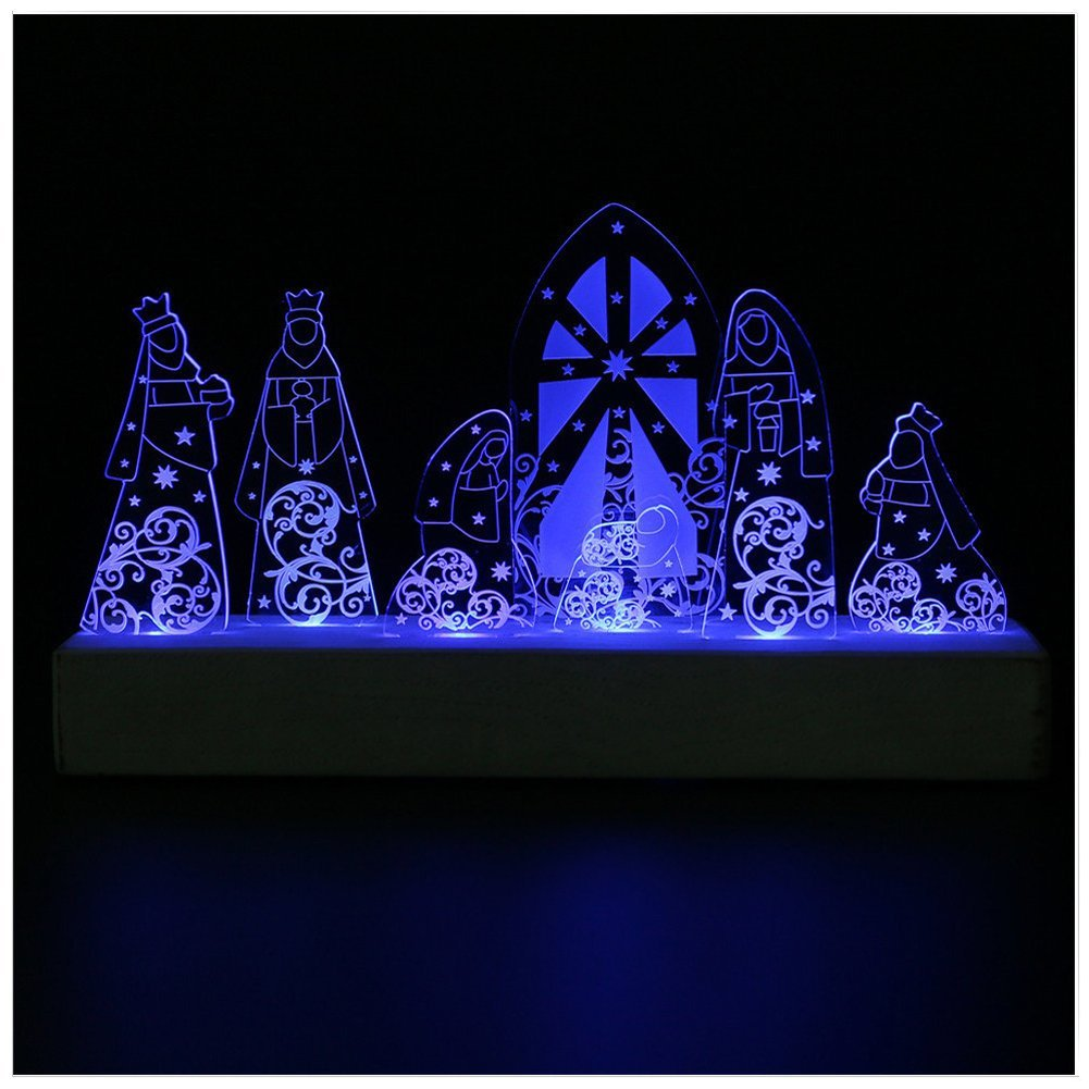 LED Light Nativity Set