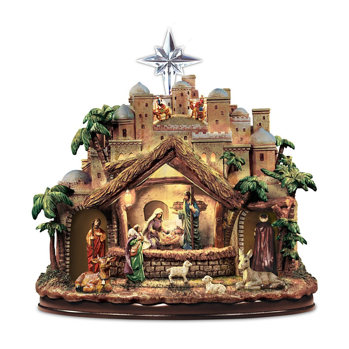 Thomas Kinkade Nativity Scene Sculpture