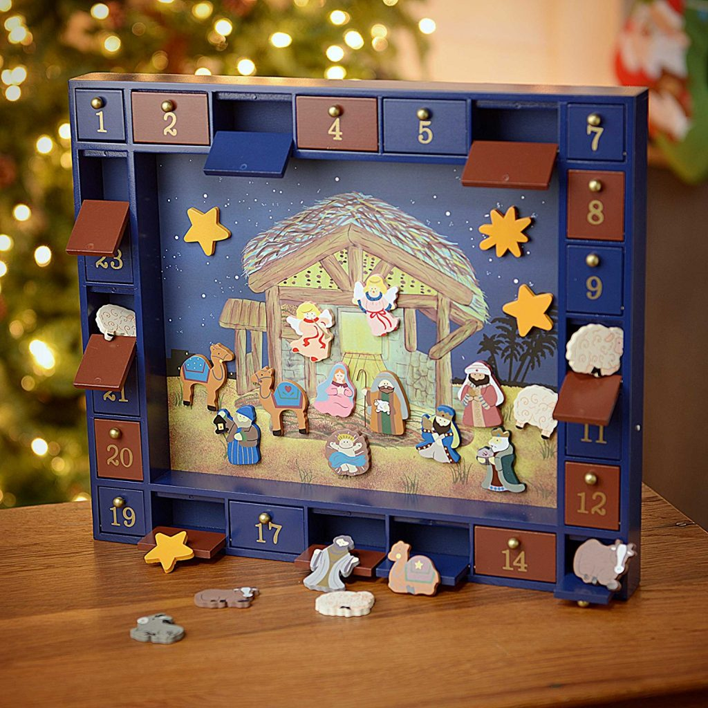 Wood Magnetic Nativity Advent Calendar