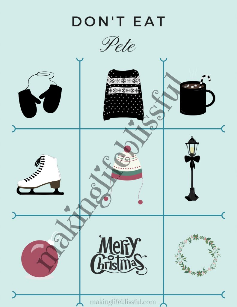 Christmas Don't Eat Pete Printable Game