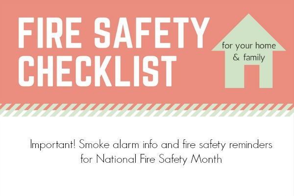 Family Fire Safety Checklist and Kids Printables
