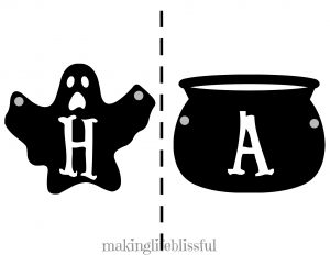 free printable happy halloween garland