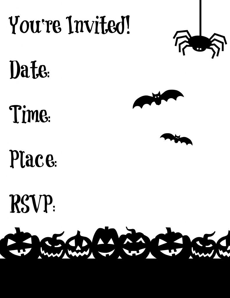 Free Printable Halloween Invite