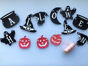 Free Printable Halloween Garland and Masks