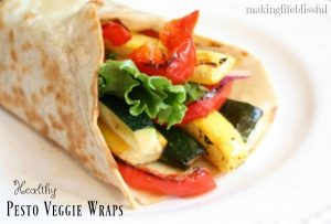 Delicious Pesto Veggie Wraps!