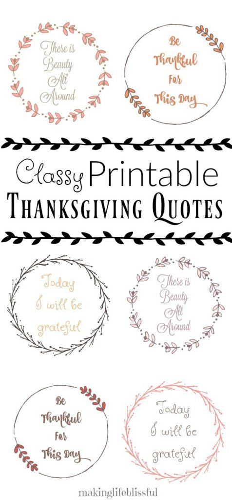 Thanksgiving Printable Quotes