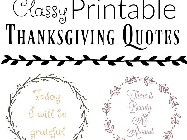 Classy Thanksgiving Printable Wall Quotes