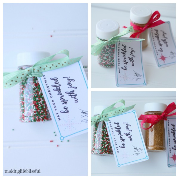 May Your Christmas Be Sprinkled With Joy Gift Tag Printable