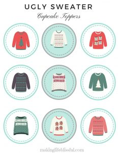 Ugly Sweater Party Printables!